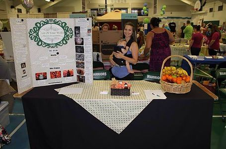 Kim at the Tampa Bay Birth Network's Natural Birth and Baby Expo