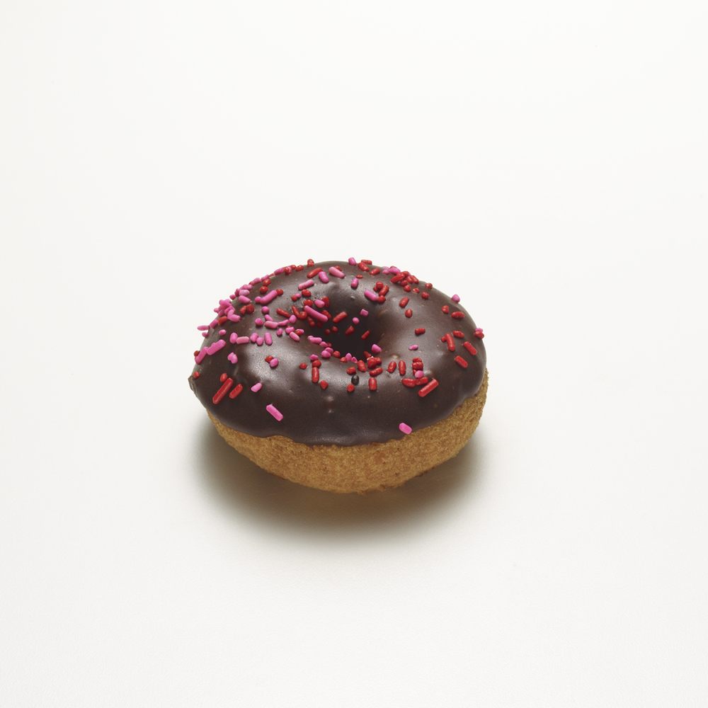 DARLING   •  chocolate cake donut with sprinkles