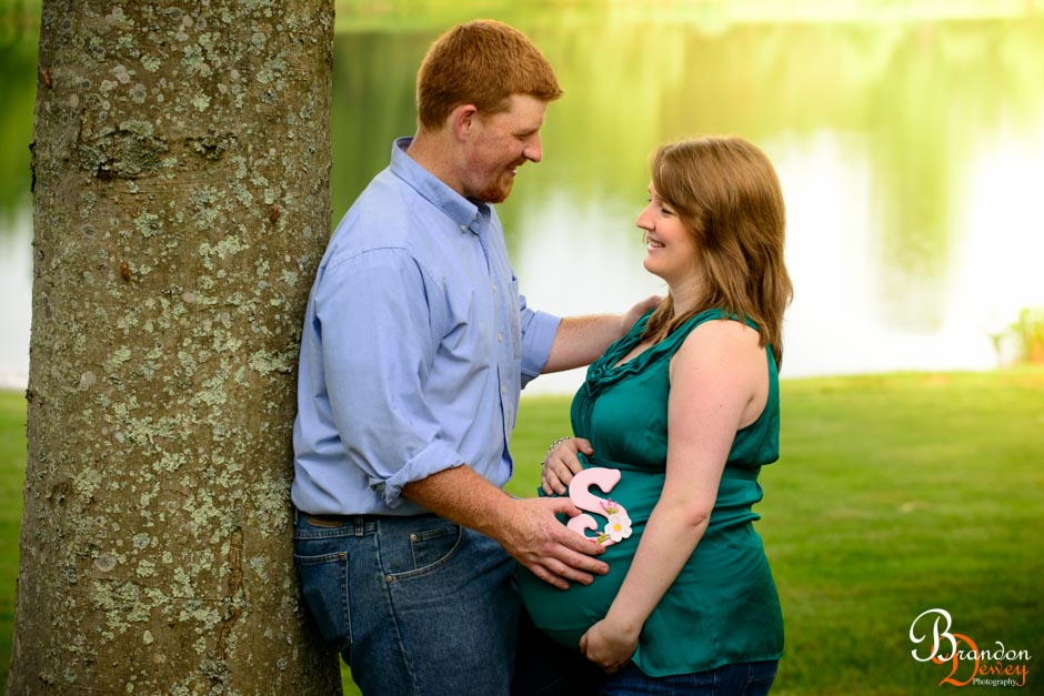 Brandon and Trisha Maternity Photo.  Goochland, VA.  Link to Photo