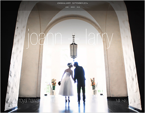 Click to jump to client wedding website.