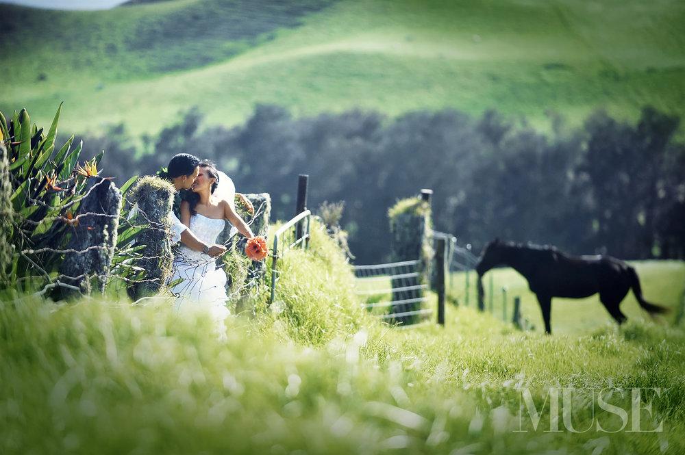 MUSE Bride Wedding Kahua Ranch