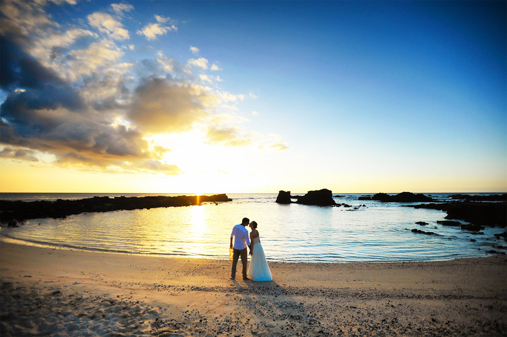 Alohilani Weddings Erick Rhodes Photography Kikaua Point Sunset