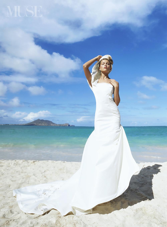 MUSE Bride Erick Rhodes Photography Bridal Editorial Lanikai