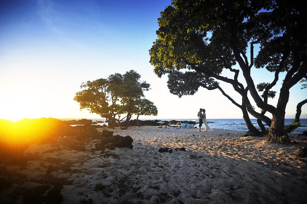 Alohilani Weddings - Sunset at Kikaua Point