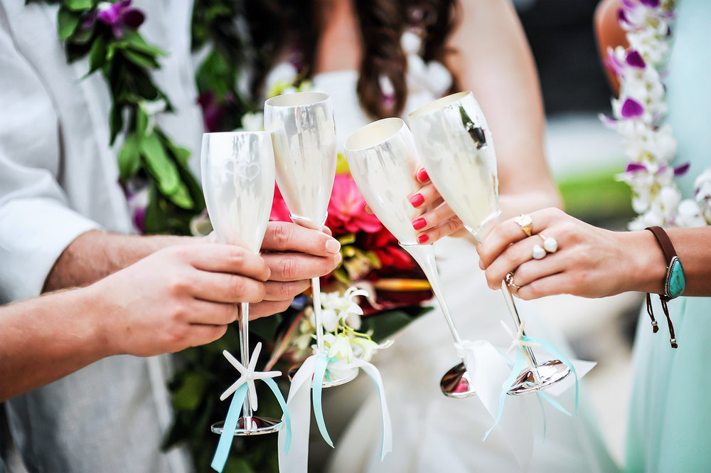 Alohilani Weddings - Champagne