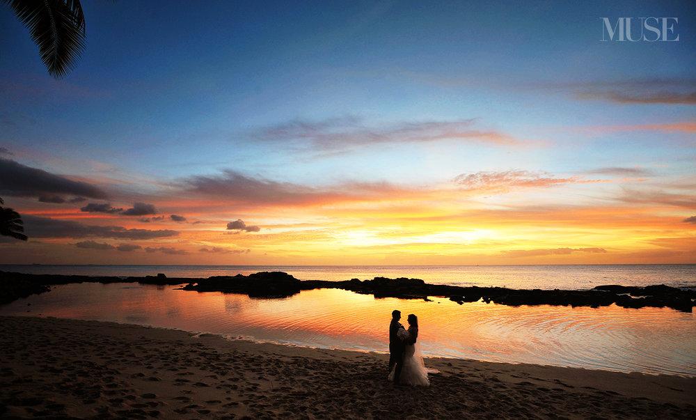 MUSE Bride Erick Rhodes Photography Laniku Sunset