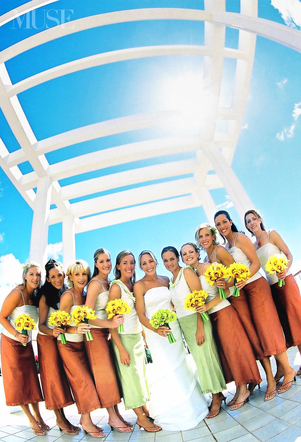 MUSE Bride Erick Rhodes Photography Ihilani Wedding Bridesmaids