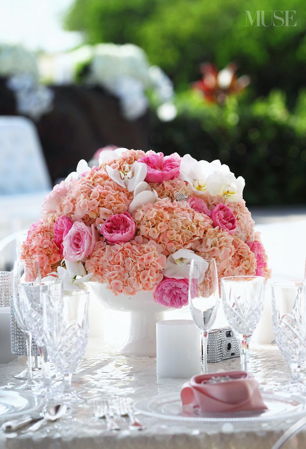 MUSE Bride Lookbook - Flowers . Pink