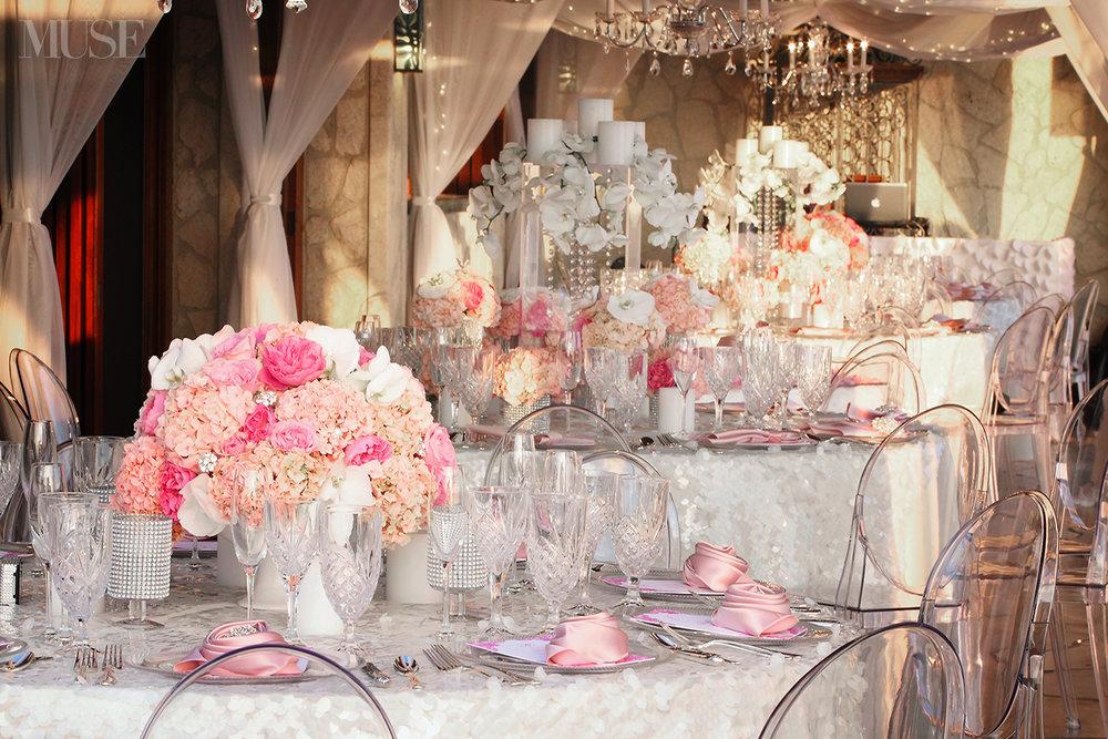 MUSE Bride Lookbook - Flowres . Pink