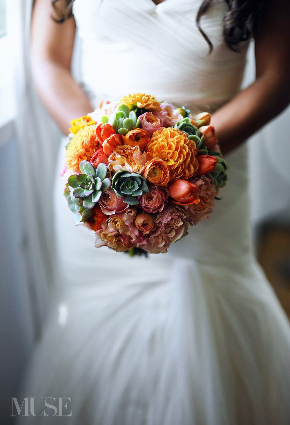 MUSE Bride Lookbook - Flowers . Orange