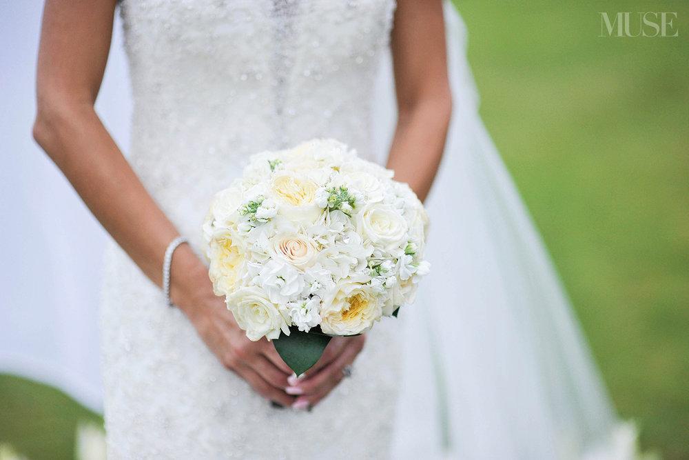 MUSE Bride Lookbook - Flowers . White