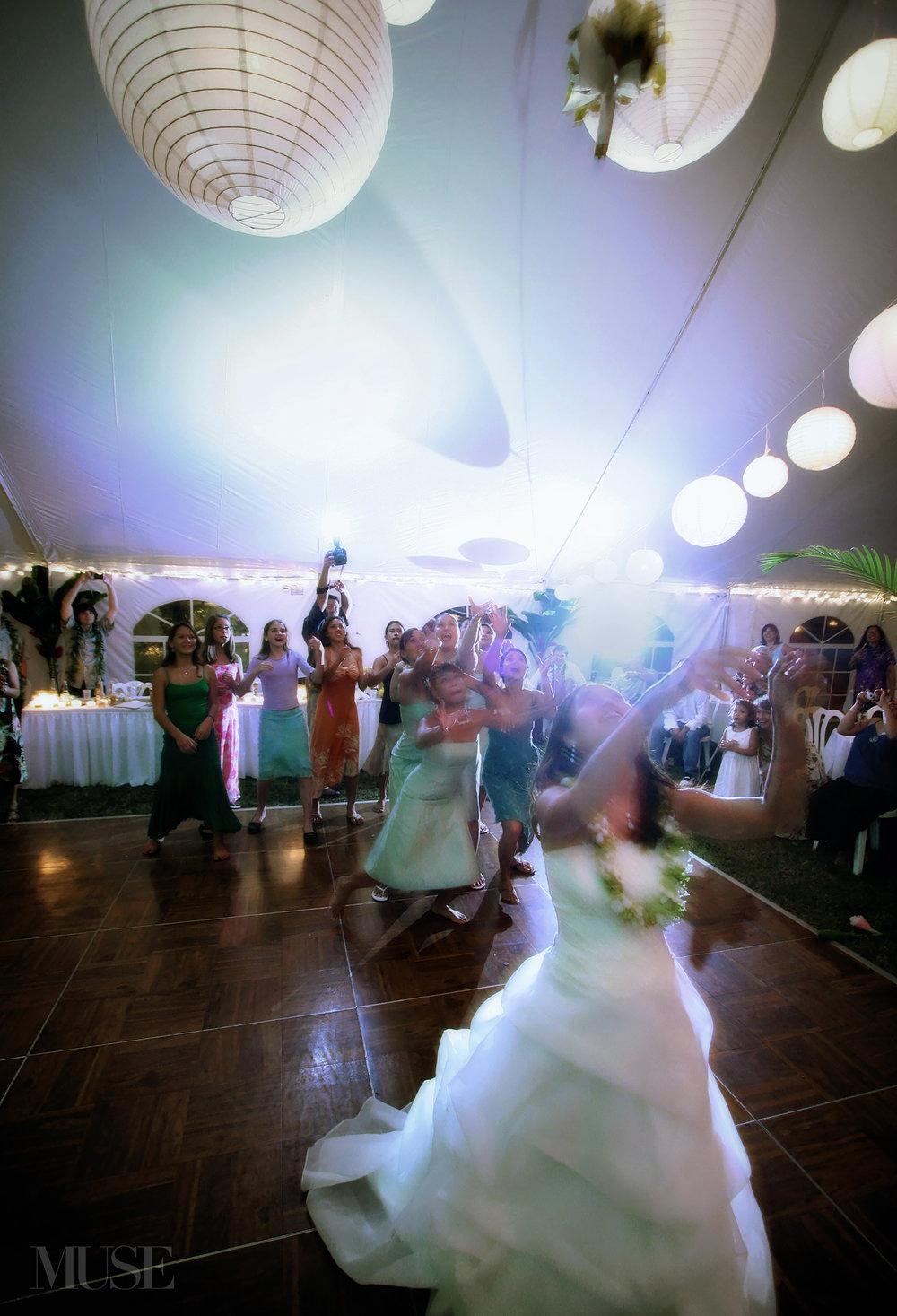 MUSE Bride Bouquet Toss Erick Rhodes Photography
