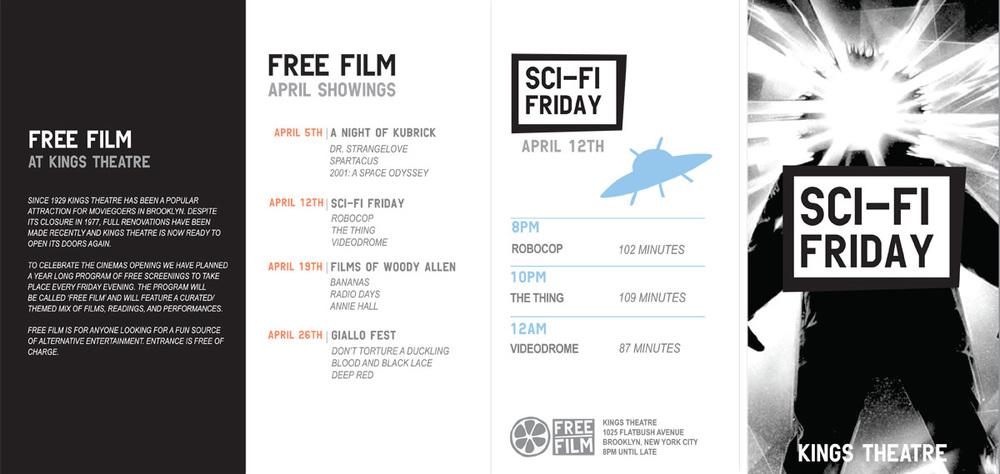 Free Film Brochure