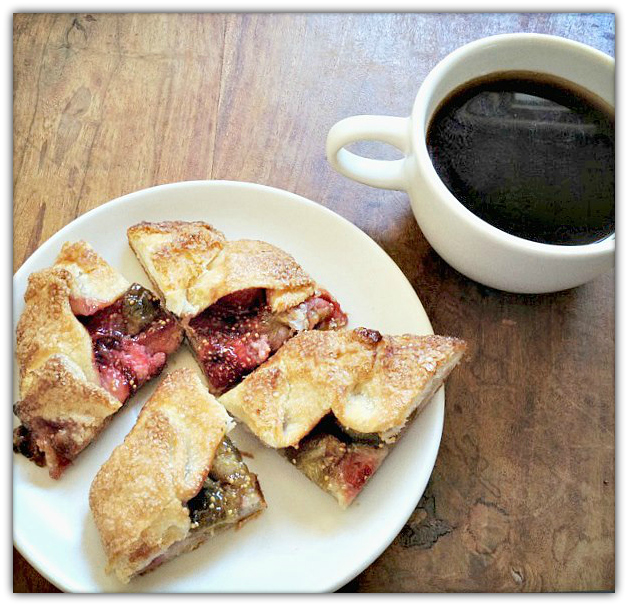 Fig + strawberry galette