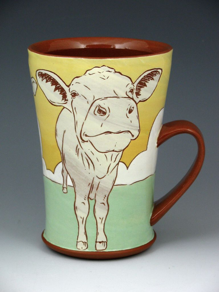 Sunset Cow Mug (he's excited to have made it through another day!}
