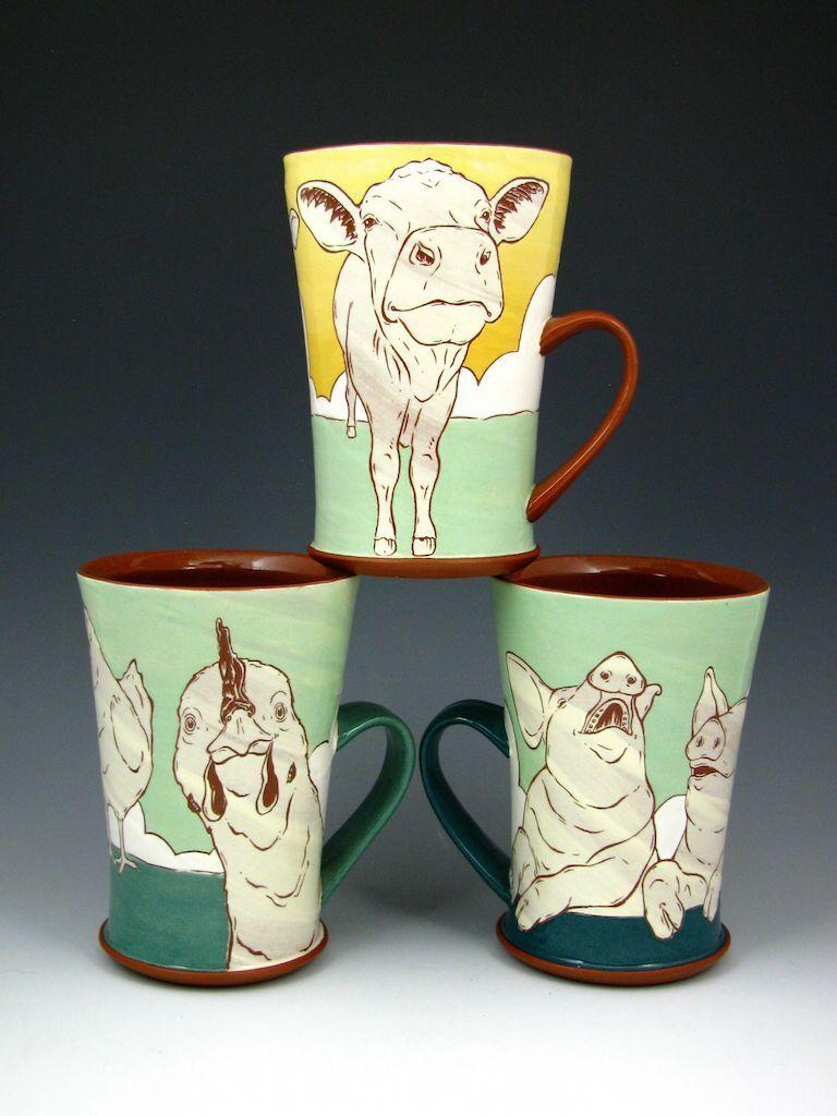 Animal Mug Trio
