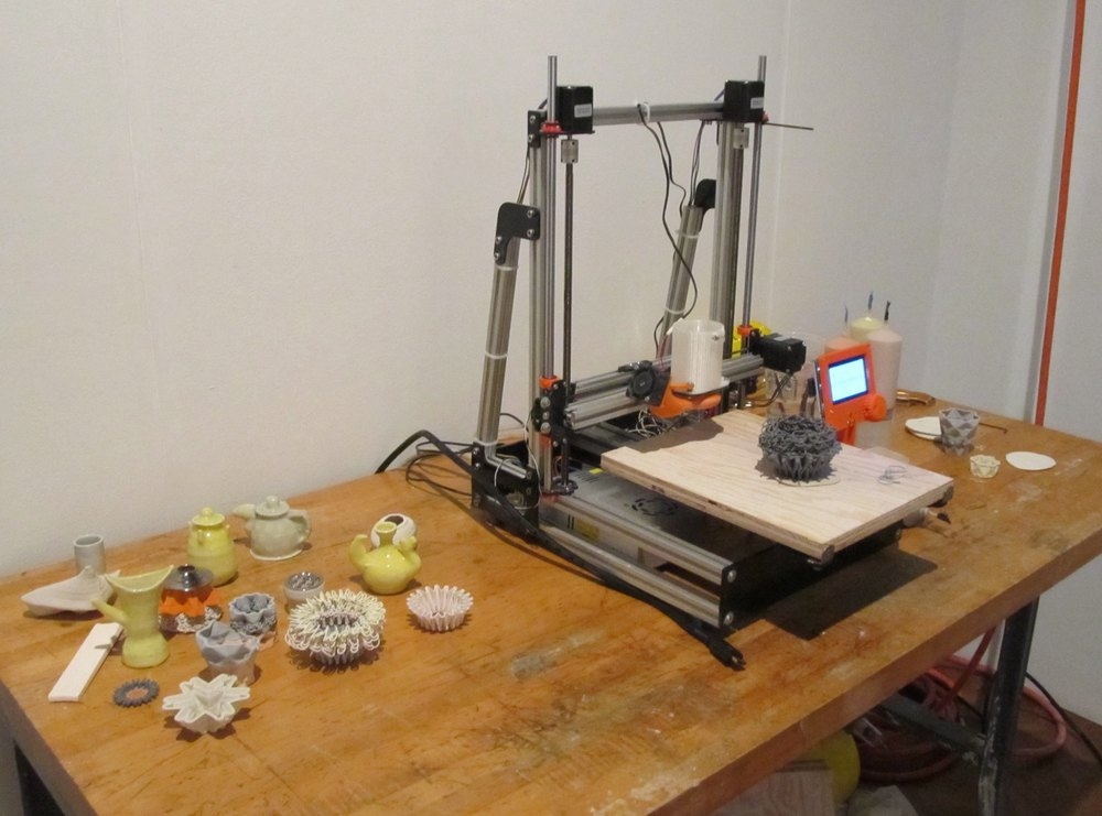 3d printer, constructed by Bryan Czibesz