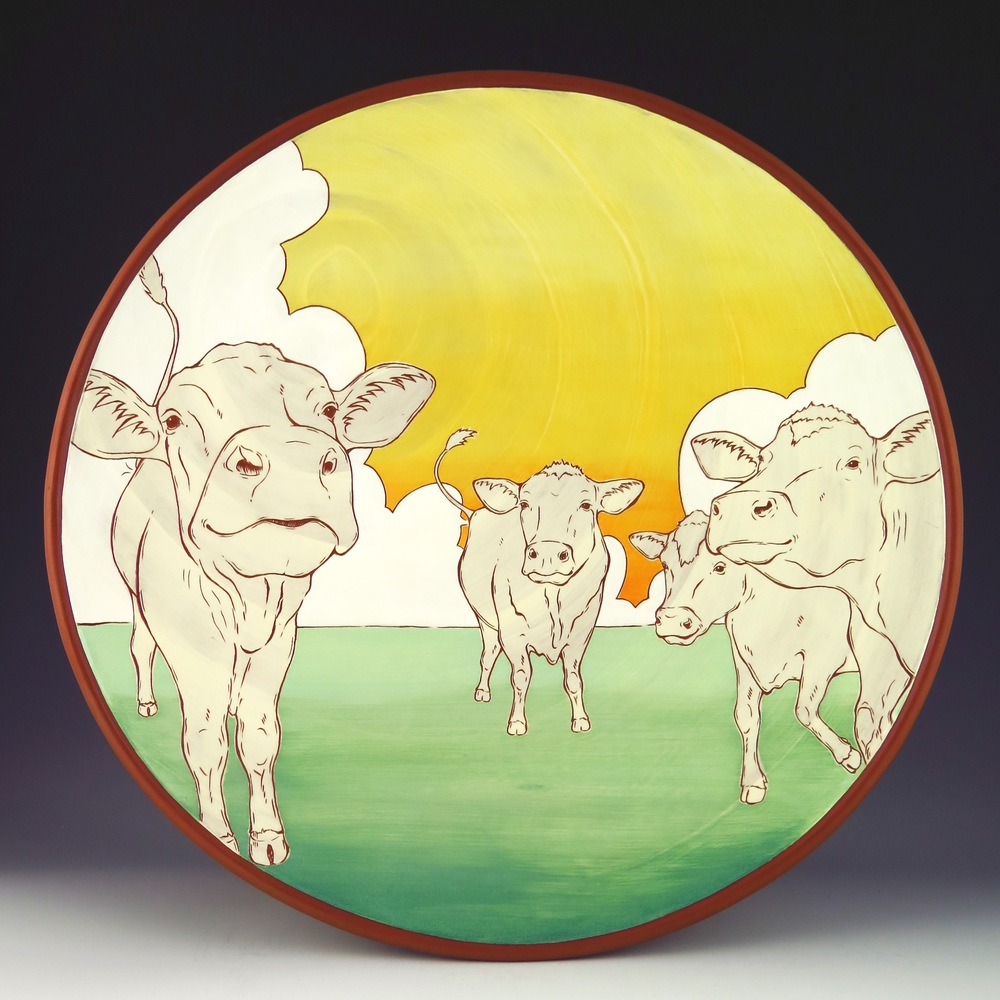Cow platter that was the initial inspiration for my sculptural pieces.