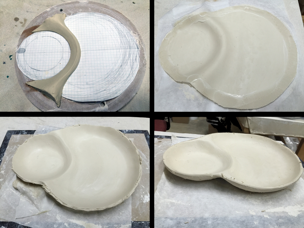 Bump molding in the creation of a plate.
