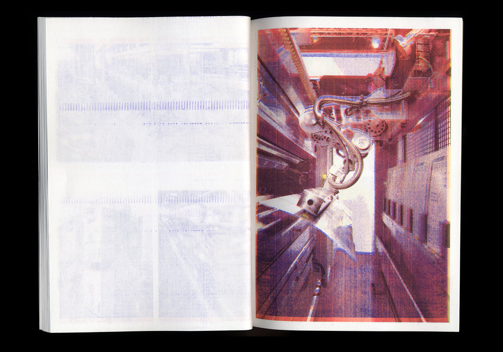 Pages of  Just in Time  (2010) by Xavier Antin