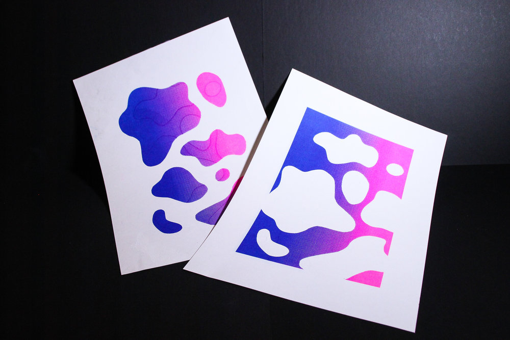 Figure 3.2 Stenciled prints