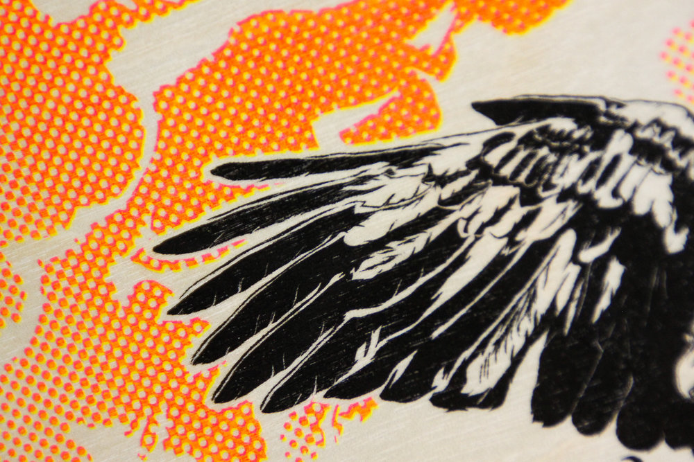 Figure 5.1  Details of Risograph printed wood
