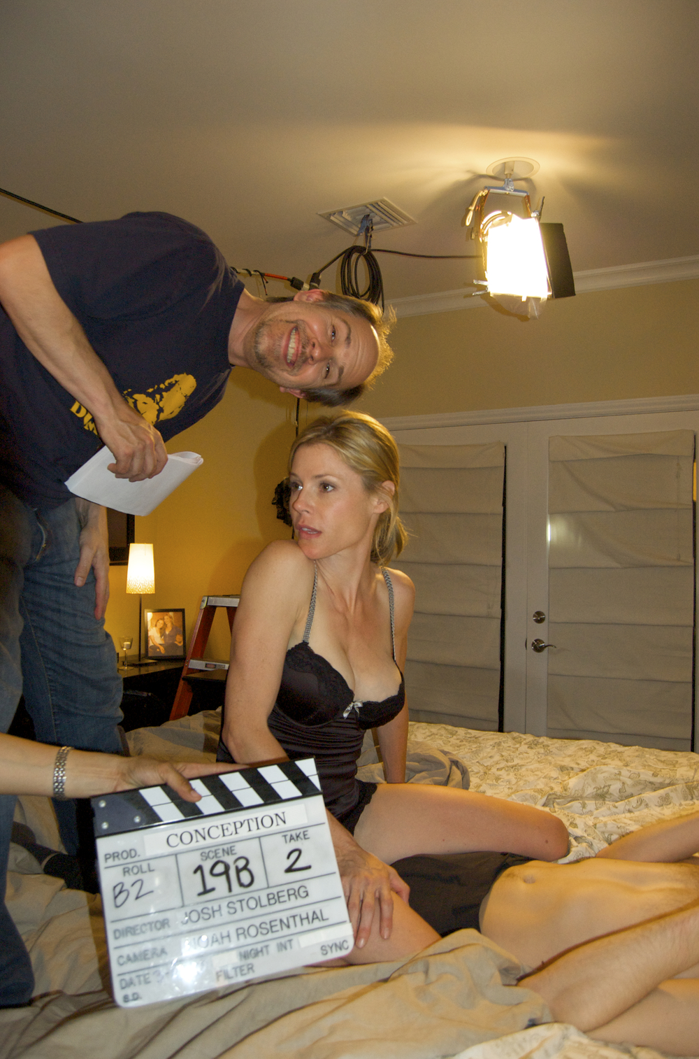 With Julie Bowen in Conception