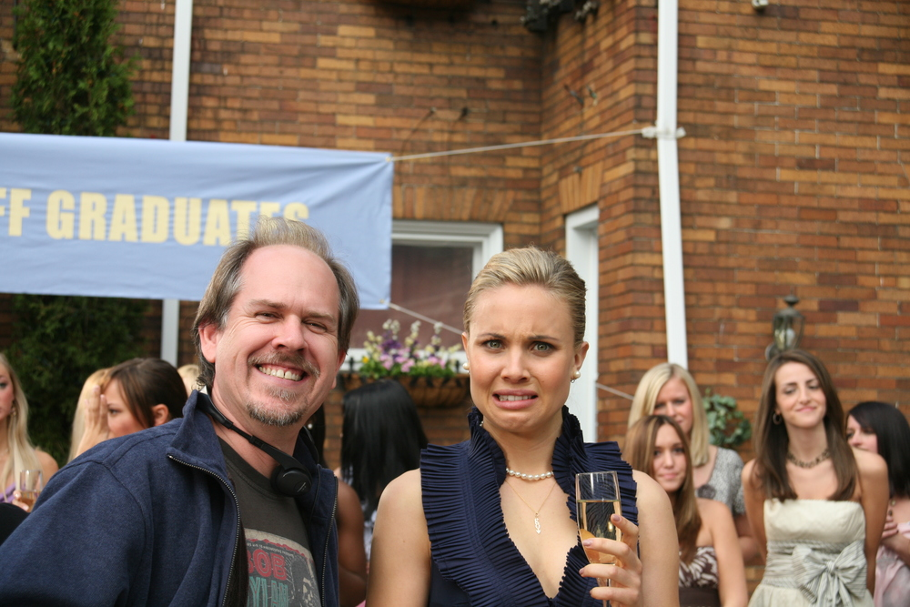 With Leah Pipes on Sorority Row