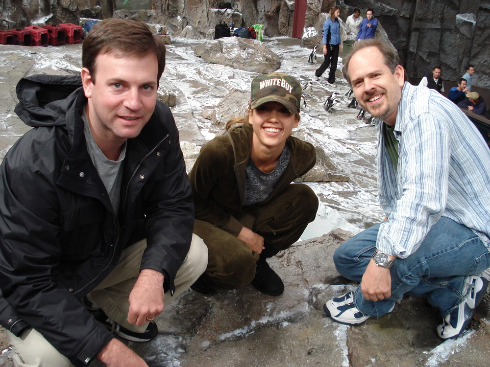 With Producer Mike Karz and Jessica Alba on Good Luck Chuck