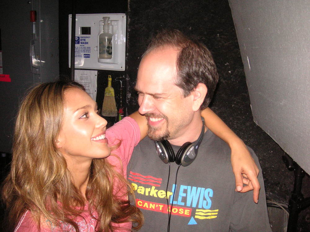 With Jessica Alba on Good Luck Chuck