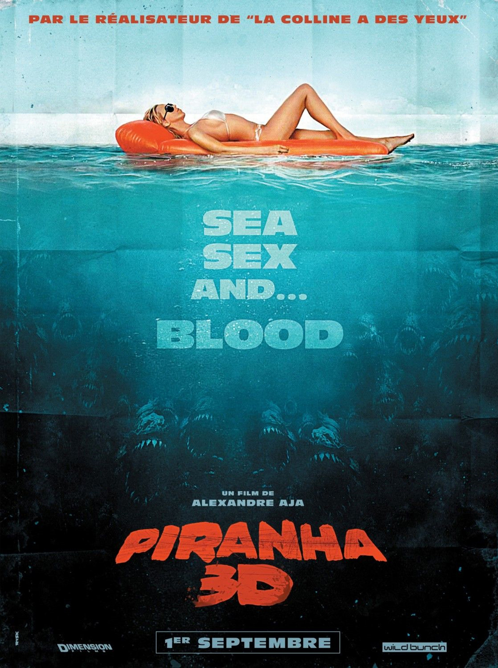 French poster for Piranha 3D
