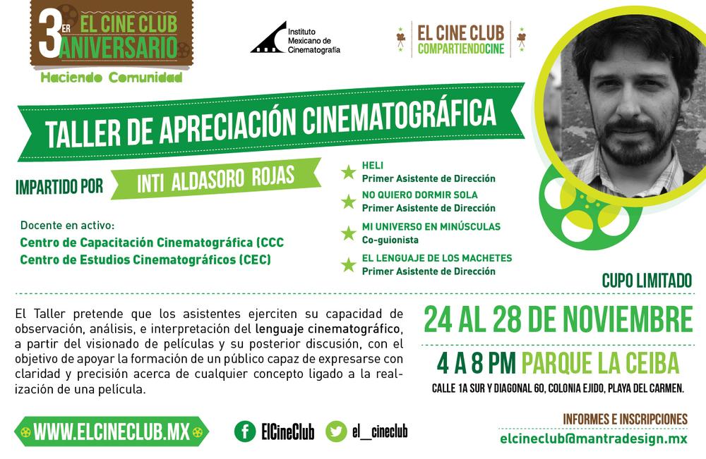 Taller de Apreciación Cinematográfica con Inti Aldasoro