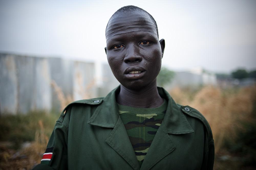 Peter, an SPLA soldier. Tongping, Juba.