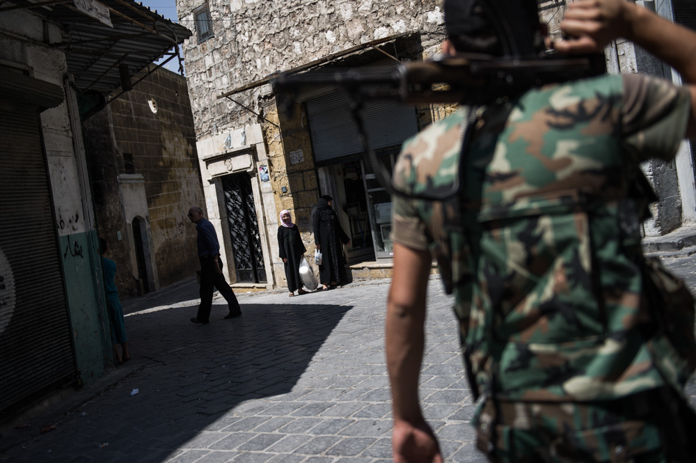 Few civilians remain. August 2012.
