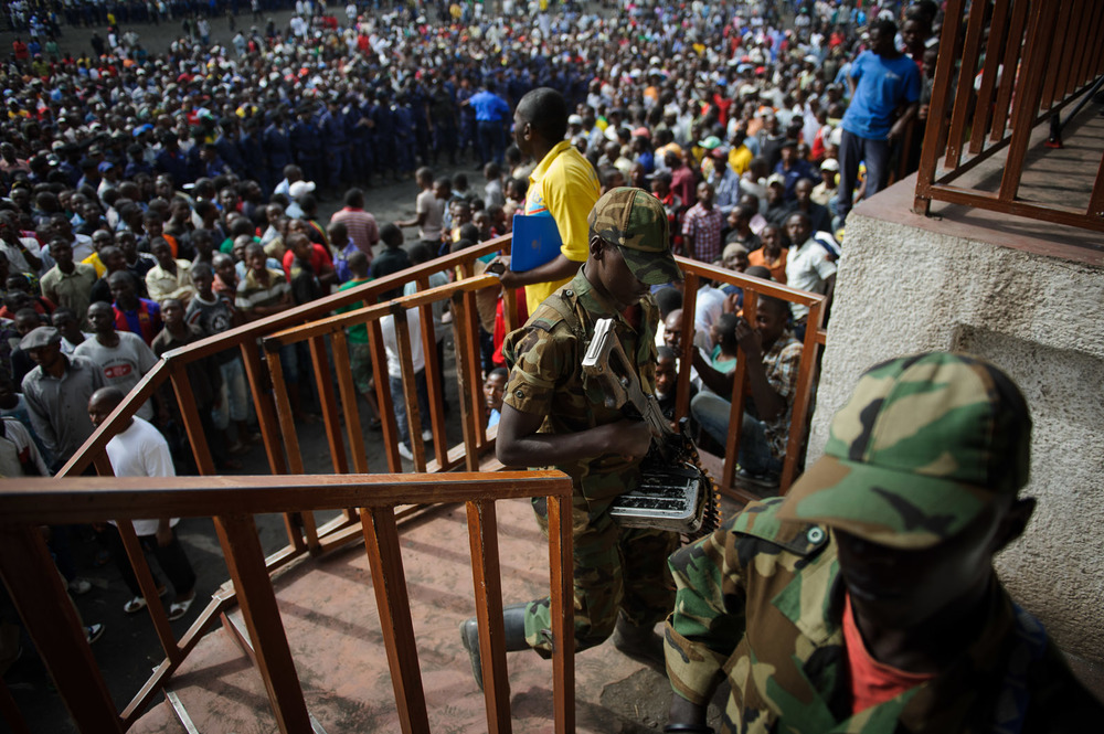 The rebels captured Goma on November 20, 2012, the first time the city has fallen for nearly a decade. The following day, they assembled residents of the city in the main stadium.