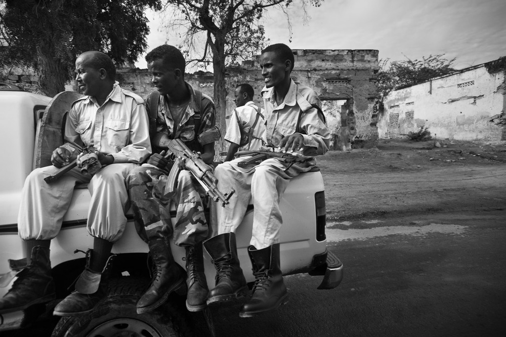 For those coming to Mogadishu, it is often their first time in a city, and is a place of everyday conflict. The streets are roamed by freelance militia, extorting money where they can, and a constant battle rages between the African Union/Transitional Federal Government forces and opposition group Al-Shabaab.
