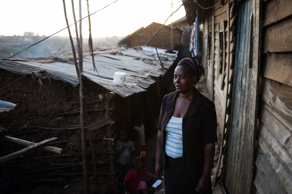 "Beatrice ""Betty"" Michael, 40, lives in the Gatwekera sector of Kibera, which was one of the worst-hit areas in the slum during the 2008 violence."