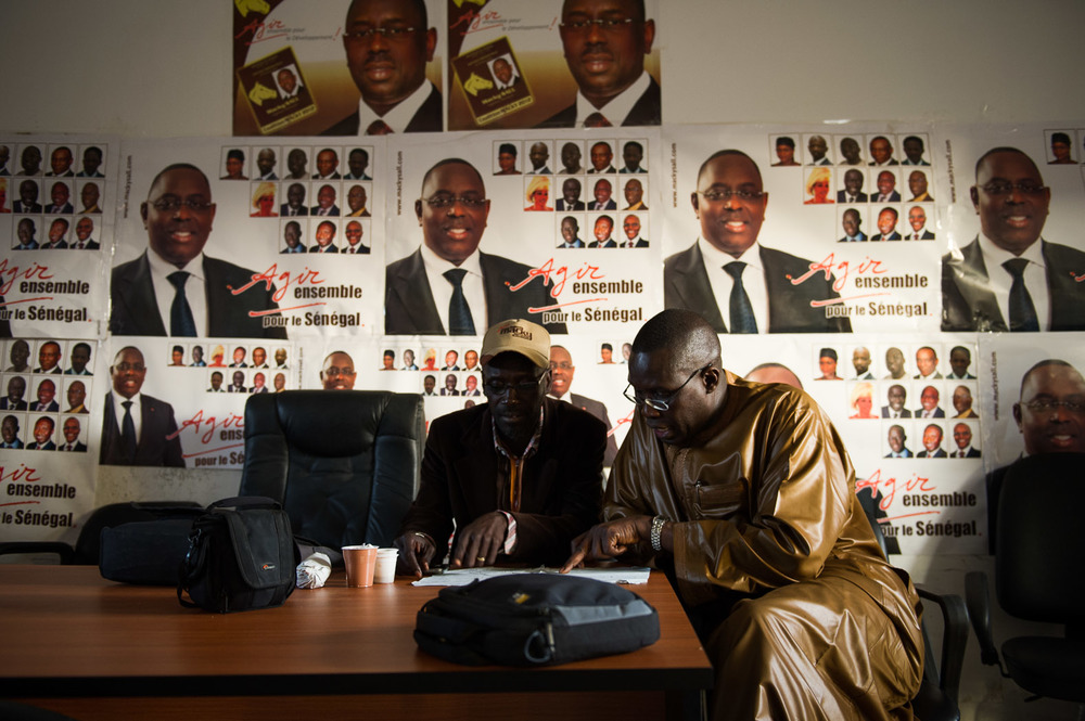 At Macky Sall's party headquarters, the campaign team wait for the first results.