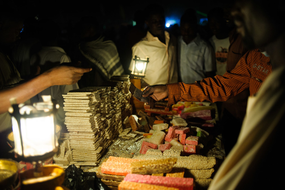 Traditional sweets sold during  Mawlid  celebrations.