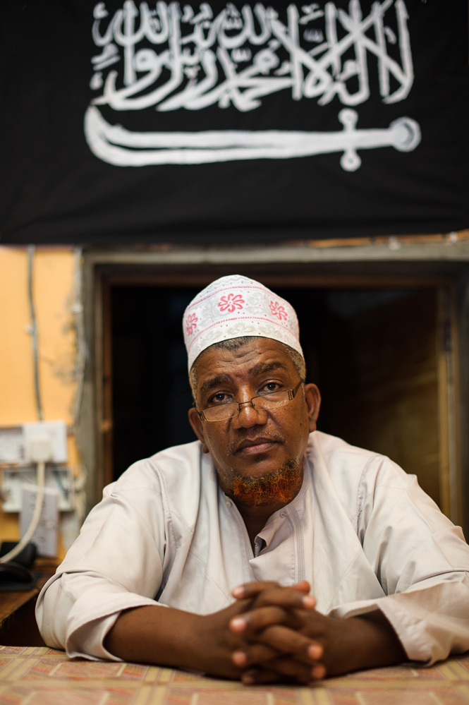 Makaburi sits in his office in Mombasa