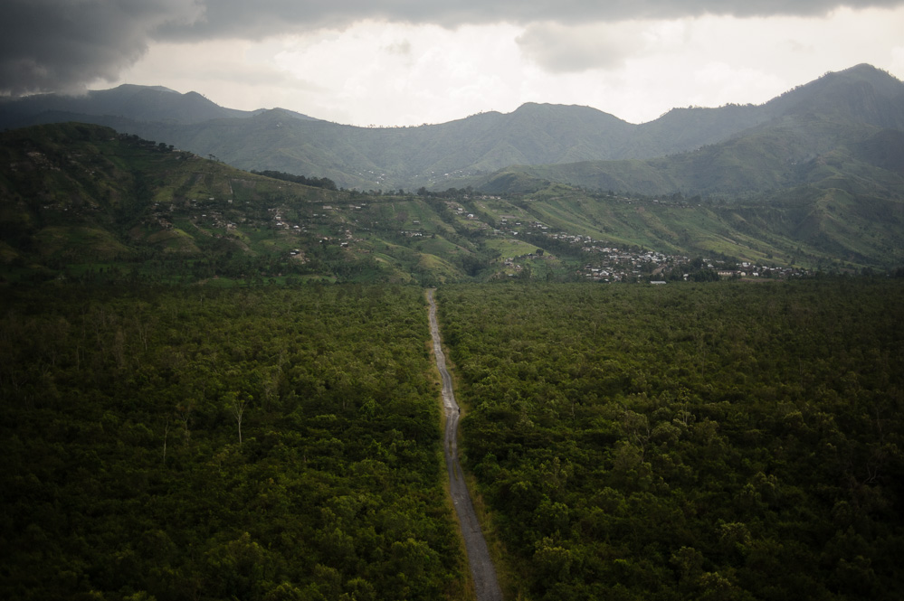 The road to Tongo, through the Virunga National Park