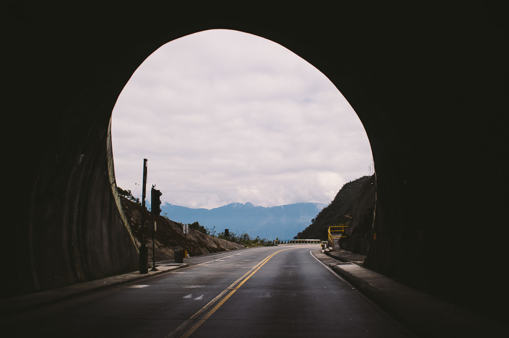 """A tunnel leads into the """"Los Yungas"""" region of Bolivia, a major coca-producing area."""