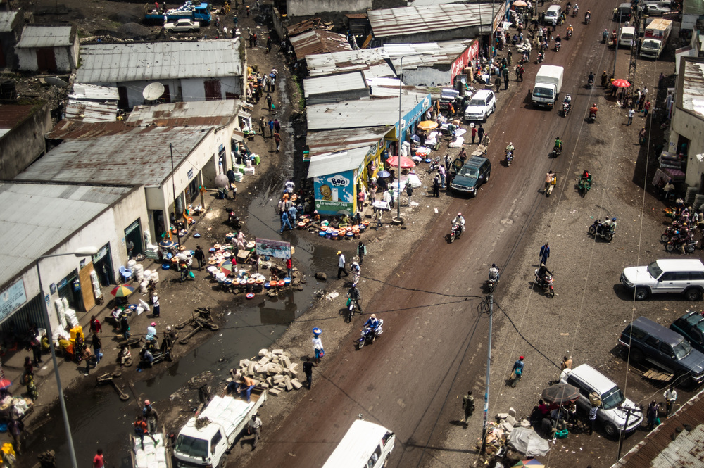 Coming into land in Goma | December 16, 2011 I never thought I'd spend so much time amidst these dusty streets
