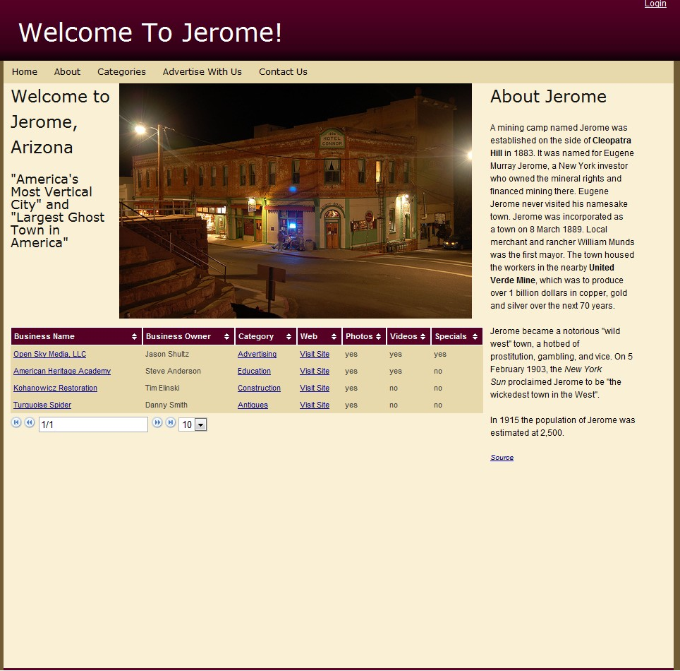 Welcome to Jerome This is your guide to shopping, antiques, and more in the Historic Ghost Town of Jerome.