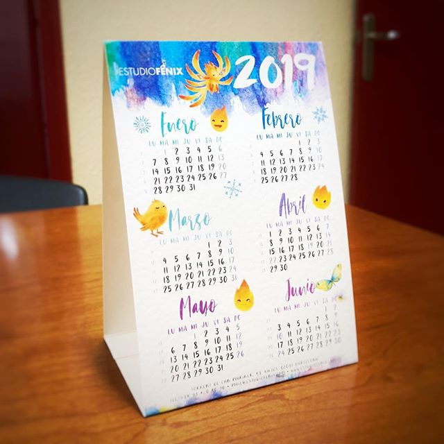 Ya podéis descargar los calendarios de Fénix para este 2019. http://estudiofenix.com/extras-descargas/