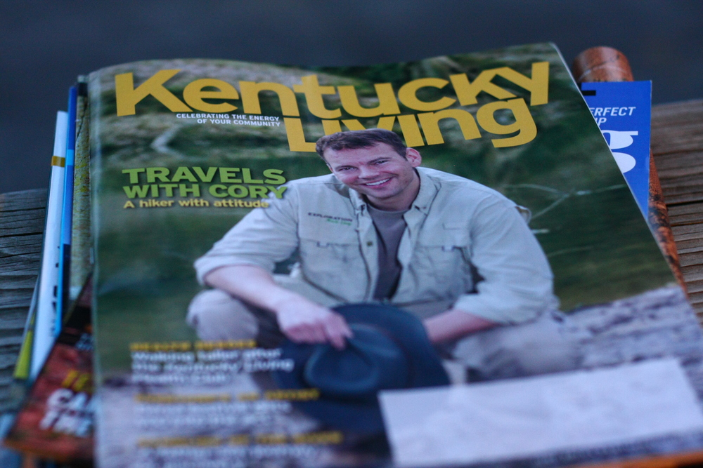 Outdoorsman Cory Ramsey hiked his way onto the cover of this month's issue of Kentucky Living.  The Bowling Green resident has traveled to all 120 Kentucky counties and hopes to one day be able to turn his passion into a career.