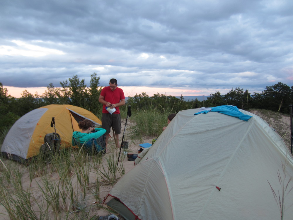 Camp 1 on a beautiful and isolated perch with 180 degree views of the southern half of North Manitou Island.