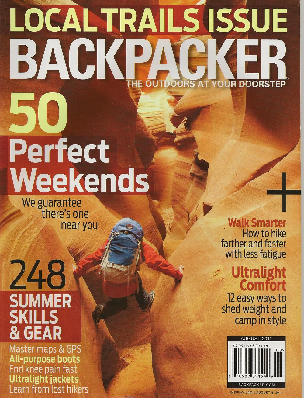 Sheltowee Trace BACKPACKER magazine - August 2011 Page 1 Page 2