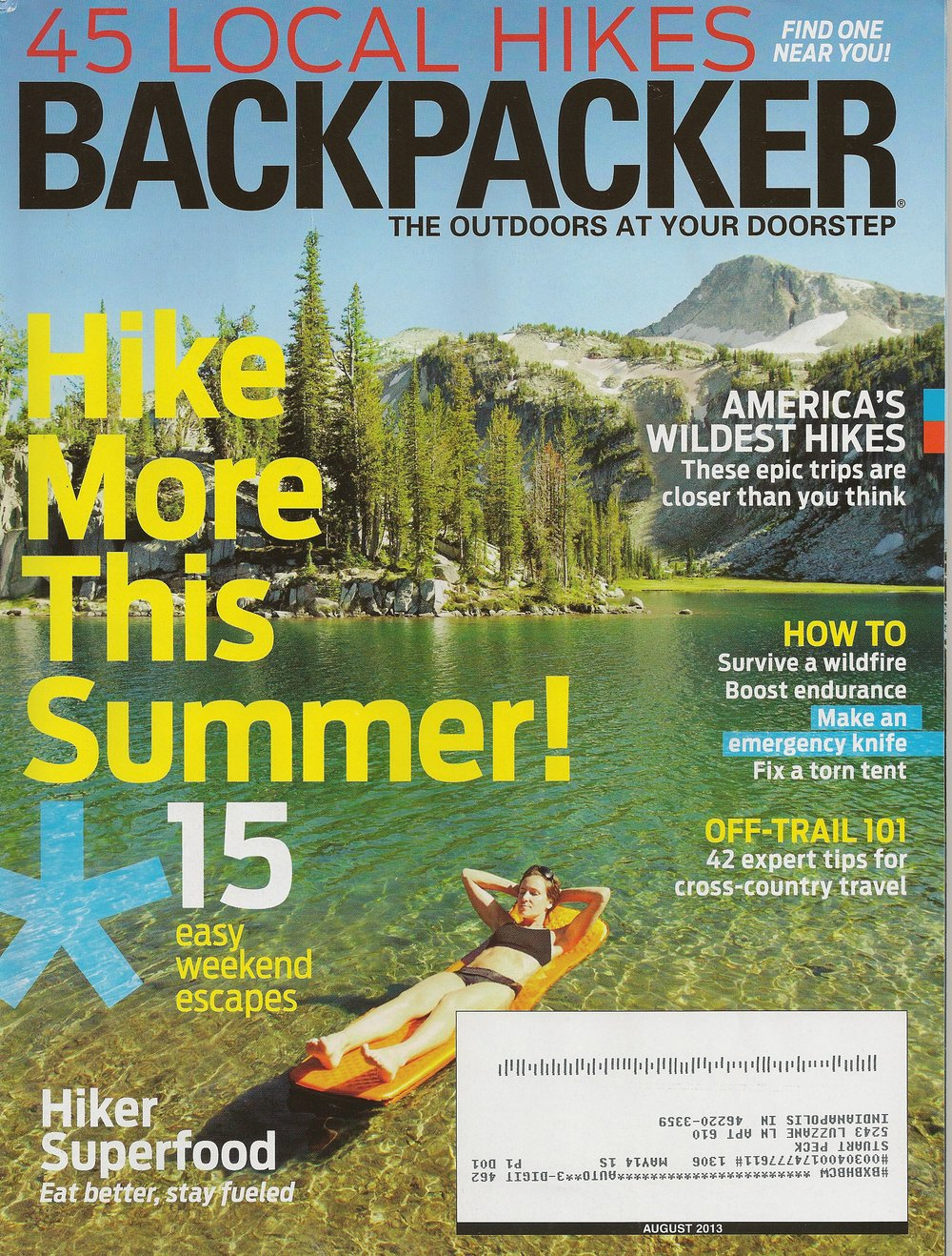 Buffalo River Trail     BACKPACKER magazine - August 2013