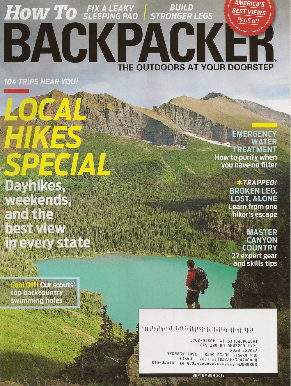 River to River Trail BACKPACKER magazine - September 2013